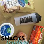 Minhas escolhas para um snack saudável
