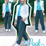 Look da Mari: blazer branco + flat form