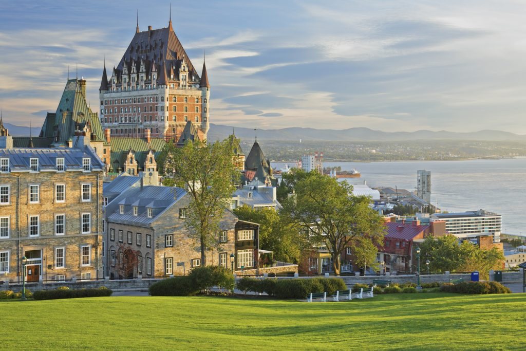 Quebec City skyline (Quebec, Canada).